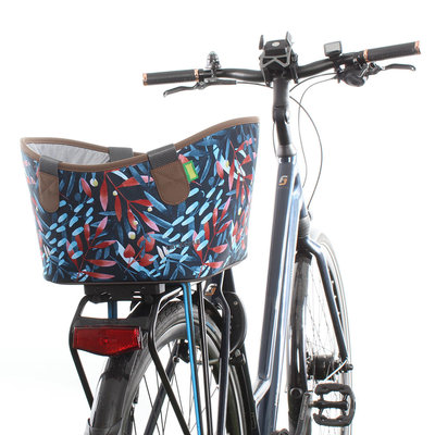 Racktime Fietsmand Agnetha 15L Midnight Flowers