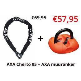 AXA 2e fietsslot aanbieding: AXA Cherto Compact 95 + AXA Muuranker!