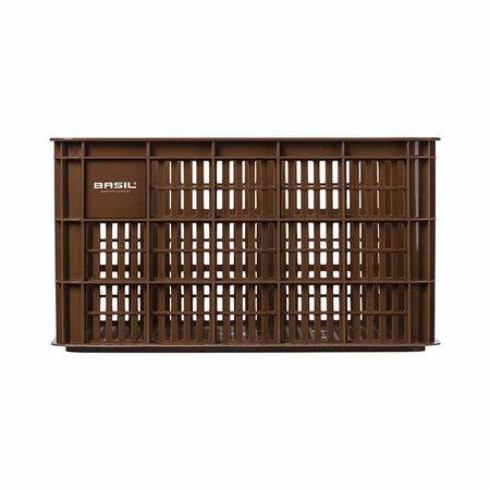 Basil Fietskrat Crate 50L Saddle brown voor MIK/Racktime