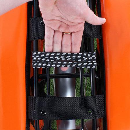 De Poort Dubbele fietstas Oranje 46L
