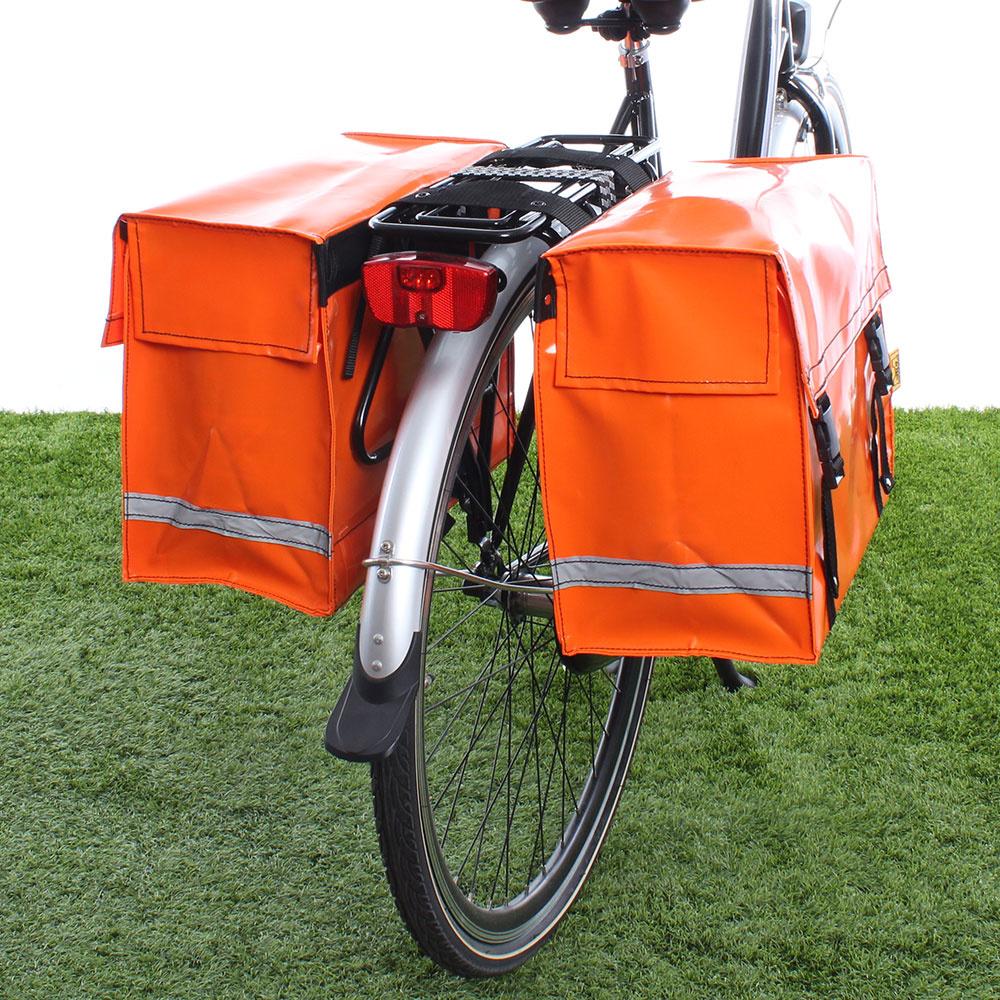 Dubbele fietstas Oranje 46L