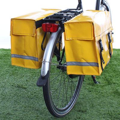 De Poort Dubbele fietstas Geel 46L