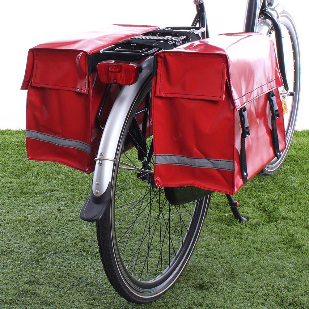 Dubbele fietstas Rood 46L