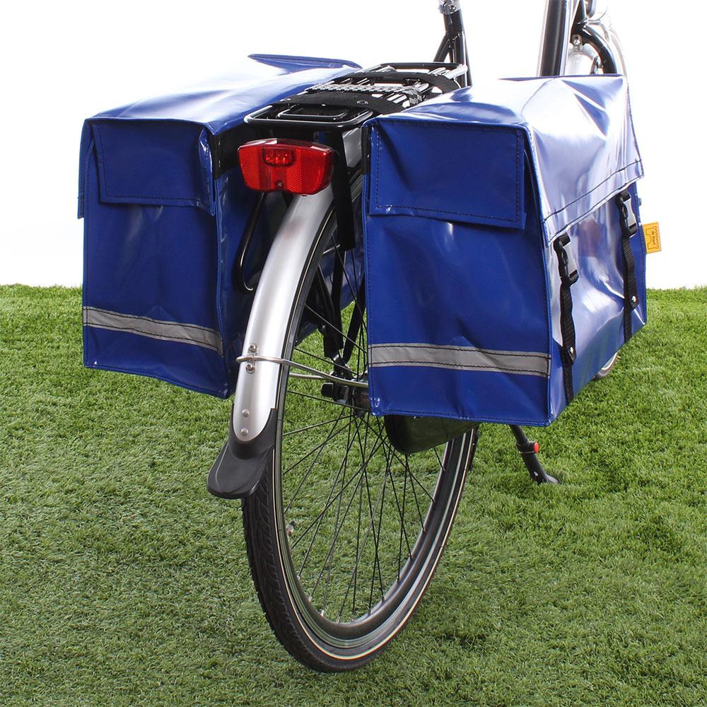 Dubbele fietstas Blauw 46L
