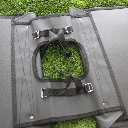Willex Dubbele fietstas Canvas Tas Zwart/Blauw - 30 liter