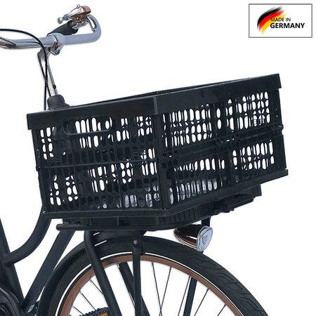 Plates 4 Bikes Afneembare Fietskrat Kunststof 32L Zwart