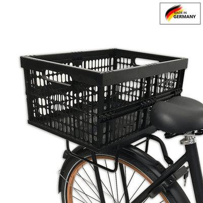 Plates 4 Bikes Afneembare Fietskrat Kunststof met Tasbeugels 32L Zwart