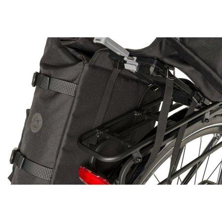 AGU Dubbele fietstas Urban Trend H2O 28L Zwart - waterdicht