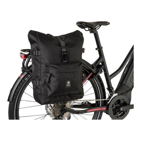 AGU Enkele fietstas Urban Trend H2O Roll-top 14L Zwart- waterdicht
