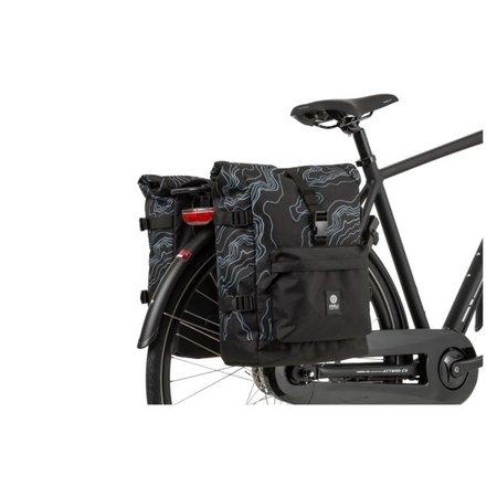 AGU Dubbele fietstas Urban Trend H2O 28L Mountain Zwart - waterdicht