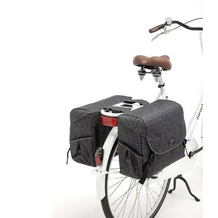 New Looxs Dubbele fietstas Mondi Joy Double 38L Ivy Black