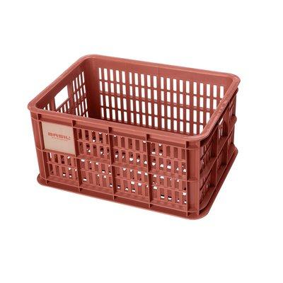 Basil Fietskrat Crate S 17,5L Terra Red MIK/RT