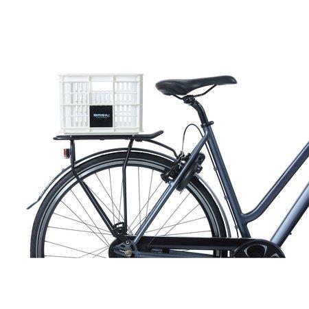 Basil Fietskrat Crate S 17,5L Bright White voor MIK/Racktime