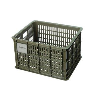 Basil Fietskrat Crate M 27L Moss Green MIK/RT
