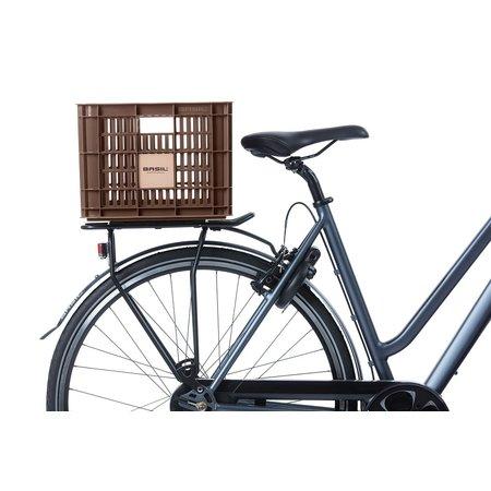 Basil Fietskrat Crate M 27L Chocolate Brown voor MIK/Racktime