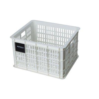 Basil Fietskrat Crate M 27L Bright White MIK/RT