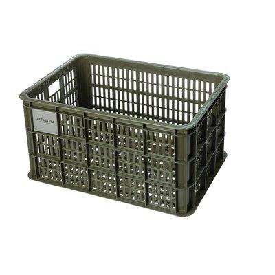 Basil Fietskrat Crate L 40L Moss Green MIK/RT