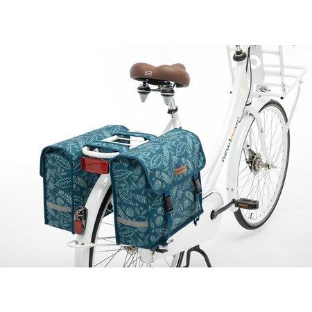New Looxs Dubbele fietstas Fiori Double Forest Blue 30L