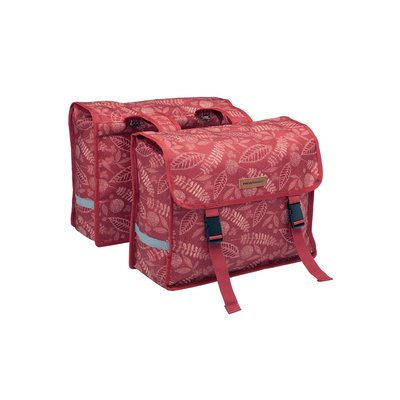 New Looxs Dubbele fietstas Fiori Double Forest Red 30L
