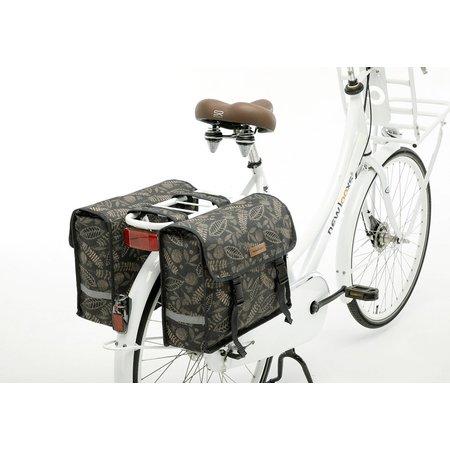 New Looxs Dubbele fietstas Fiori Double Forest Anthracite 30L