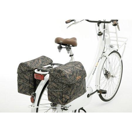 New Looxs Dubbele fietstas Joli Double  Forest Anthracite 37L