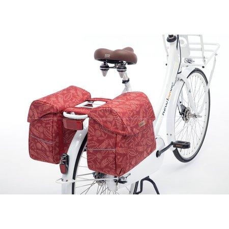 New Looxs Dubbele fietstas Joli Double  Forest Red 37L