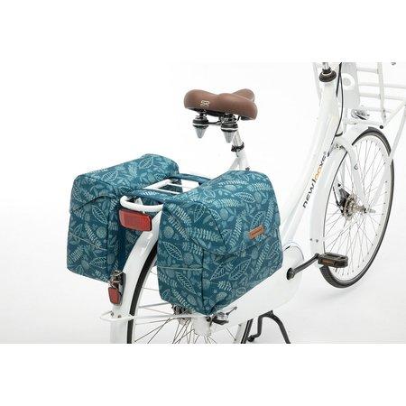 New Looxs Dubbele fietstas Joli Double  Forest Blue 37L