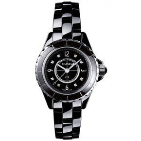 Chanel J12 Quartz Black Ladies Watch (H2569)