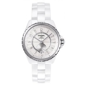 Chanel J12 White Dial Ceramic Automatic Unisex Watch (H3837)