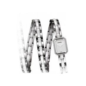 Chanel Premiere Triple Row Ceramic Steel Diamonds (H3059)