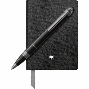 Montblanc Set with StarWalker Midnight Black Ballpoint Pen and Notebook