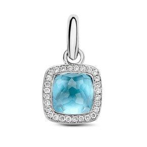 Tirisi Jewelry Hanger Milano Due Blauw Topaas