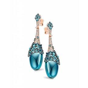 Tirisi Jewelry Oorhangers Doha Blauw Topaas