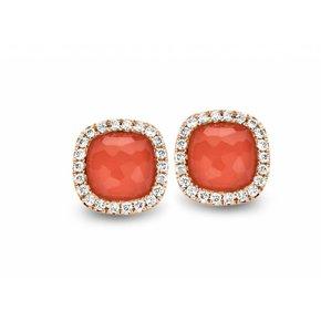 Tirisi Jewelry Oorknoppen Milano Sweeties Koraal