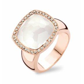 Tirisi Jewelry Ring Milano Witte Kwarts/Parelmoer