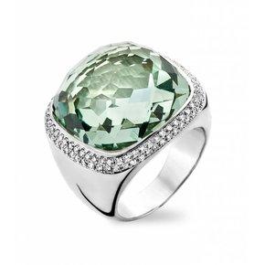 Tirisi Jewelry Ring Verona Vierkant Groene Amethist