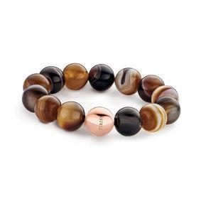 Tirisi Moda St-Tropez Armband Agaat Bolletjes Met Bolsluiting