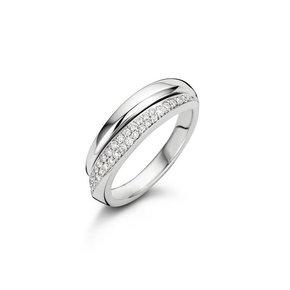 Noor Ring Half Pavé
