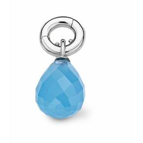 Tirisi Moda Bedel Druppel Blauw Chalcedon