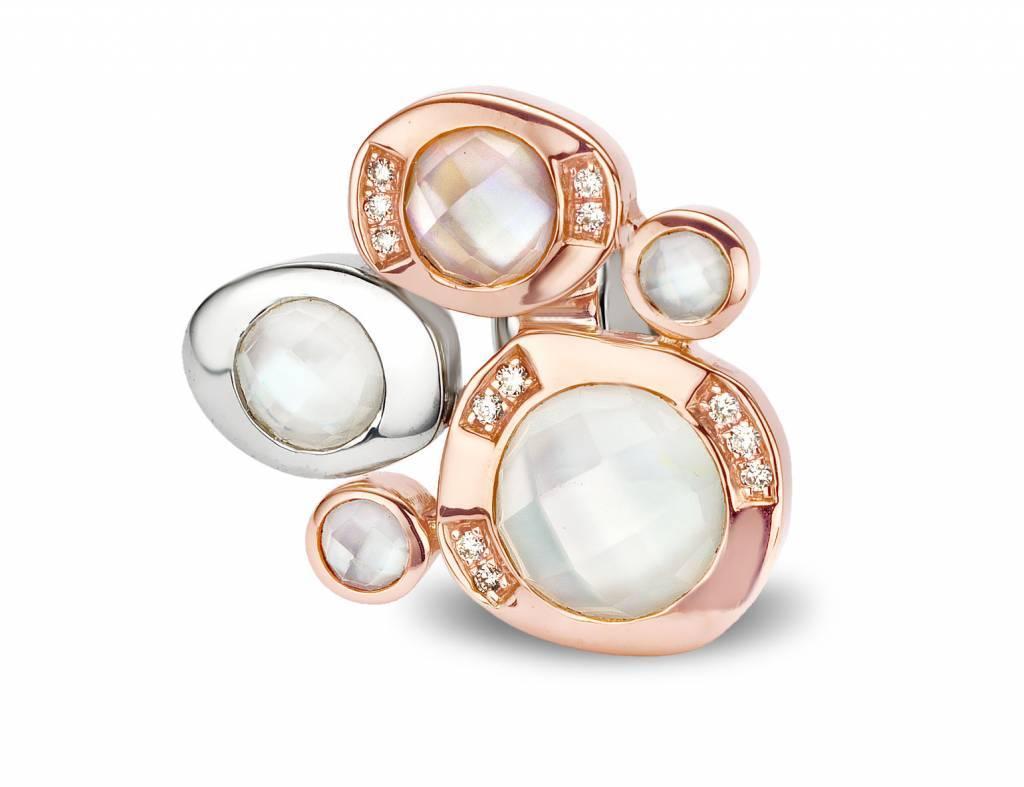 Tirisi Moda Life is a beach kristal, wit en roze parelmoer (TM6096KRP(2P))