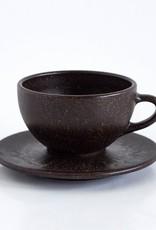 1 x Milchkaffee Tasse und Untertasse