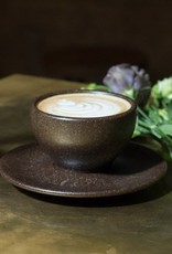 "Cappuccino cup with saucer ""coffee grounds"""