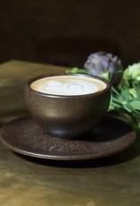 """Eine Cappuccino Tasse mit Untertasse """"Kaffeesatz"""""""