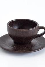 """Acht Cappuccino Tassen mit Untertassen """"Kaffeesatz"""""""