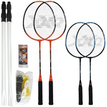 Badminton set for four players