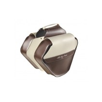 Double Pannier Leather Fashion (Brown / Cream)