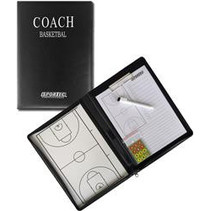 Magnetisch coachbord in omslagmap basketbal