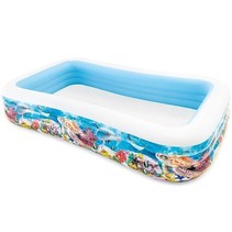 Large inflatable swimming pool 'tropical reef'
