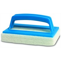 Swimming pool scourer with handle