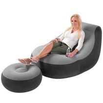 Ultra Lounge chair with pouf